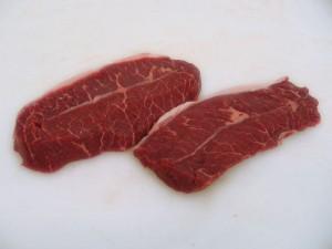 raw blade steak