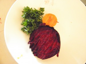 beetroot carrot and parsley