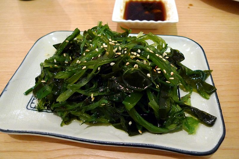 plate of edible seaweed