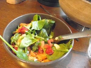 green and orange salad