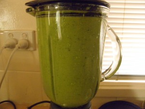 jug of green smoothie