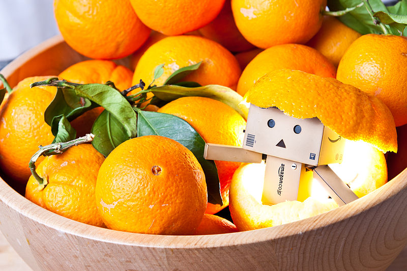 basket of oranges with amazon robot - boost immunity this winter