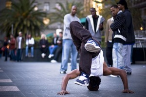 hip hop dancer in the street
