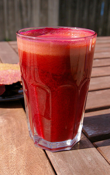 Beet juice for fasting