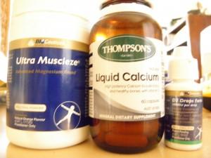 Magnesium, calcium and vitamin D supplements
