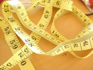 tape measure for measuring body composition