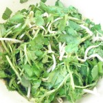 Asian watercress and ginger chicken salad