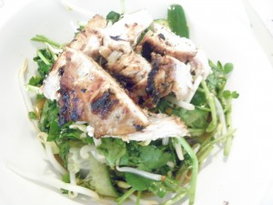 watercress salad with chicken