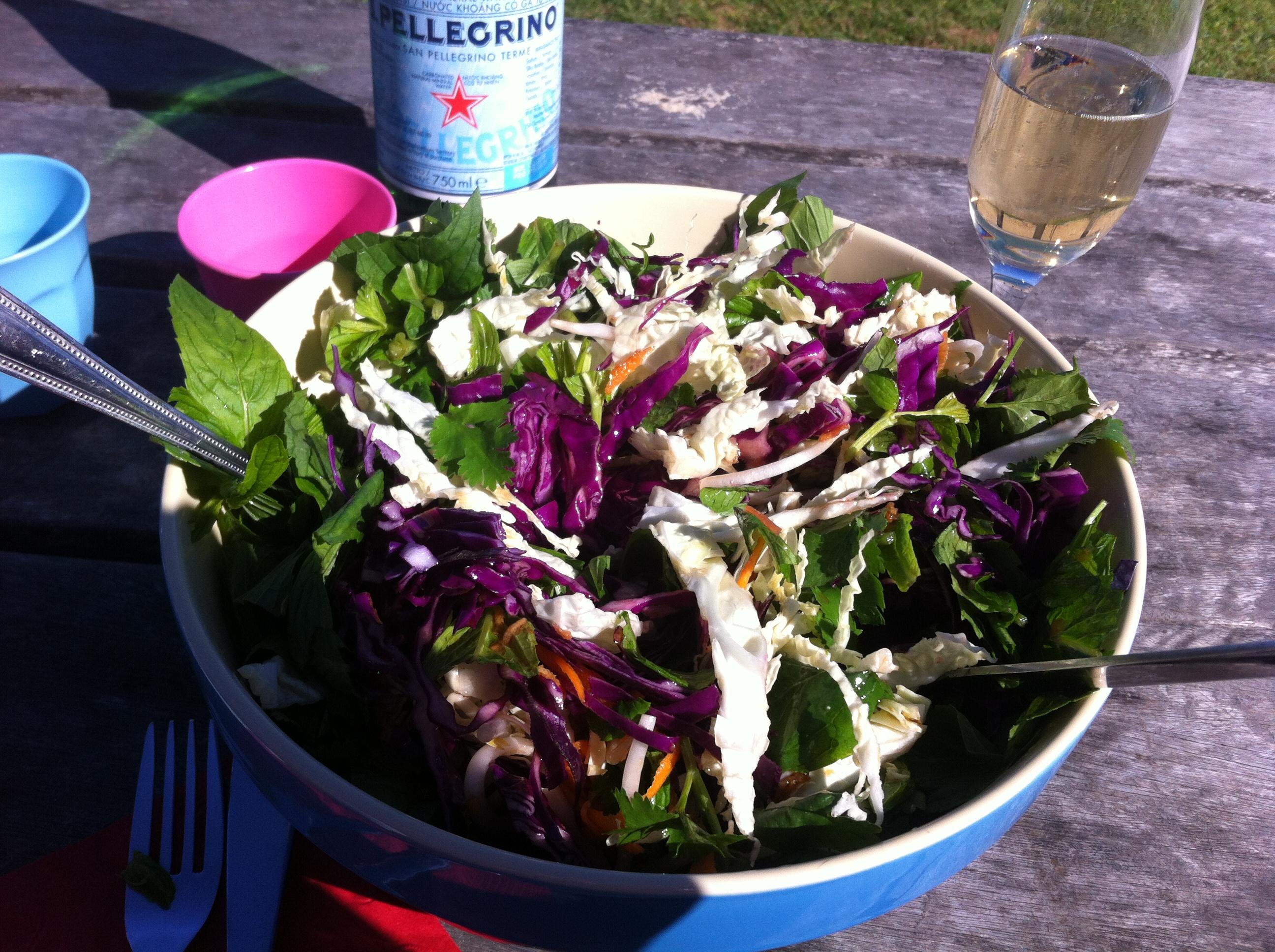 asian cabbage salad mixed