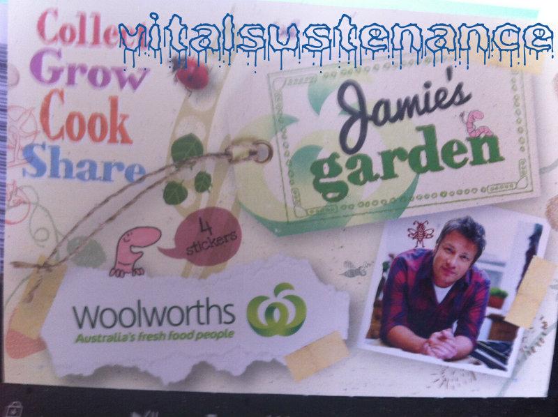 woolworths jamie's garden stickers