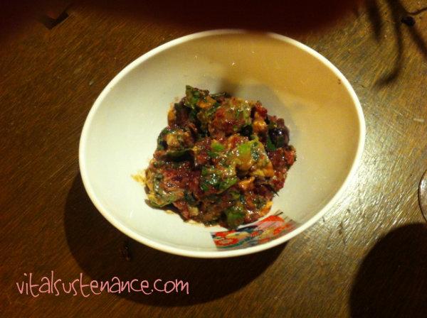 bowl of Mediterranean dip