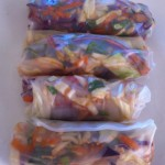 healthy asian spring rolls