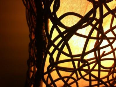 cane and white light through calico