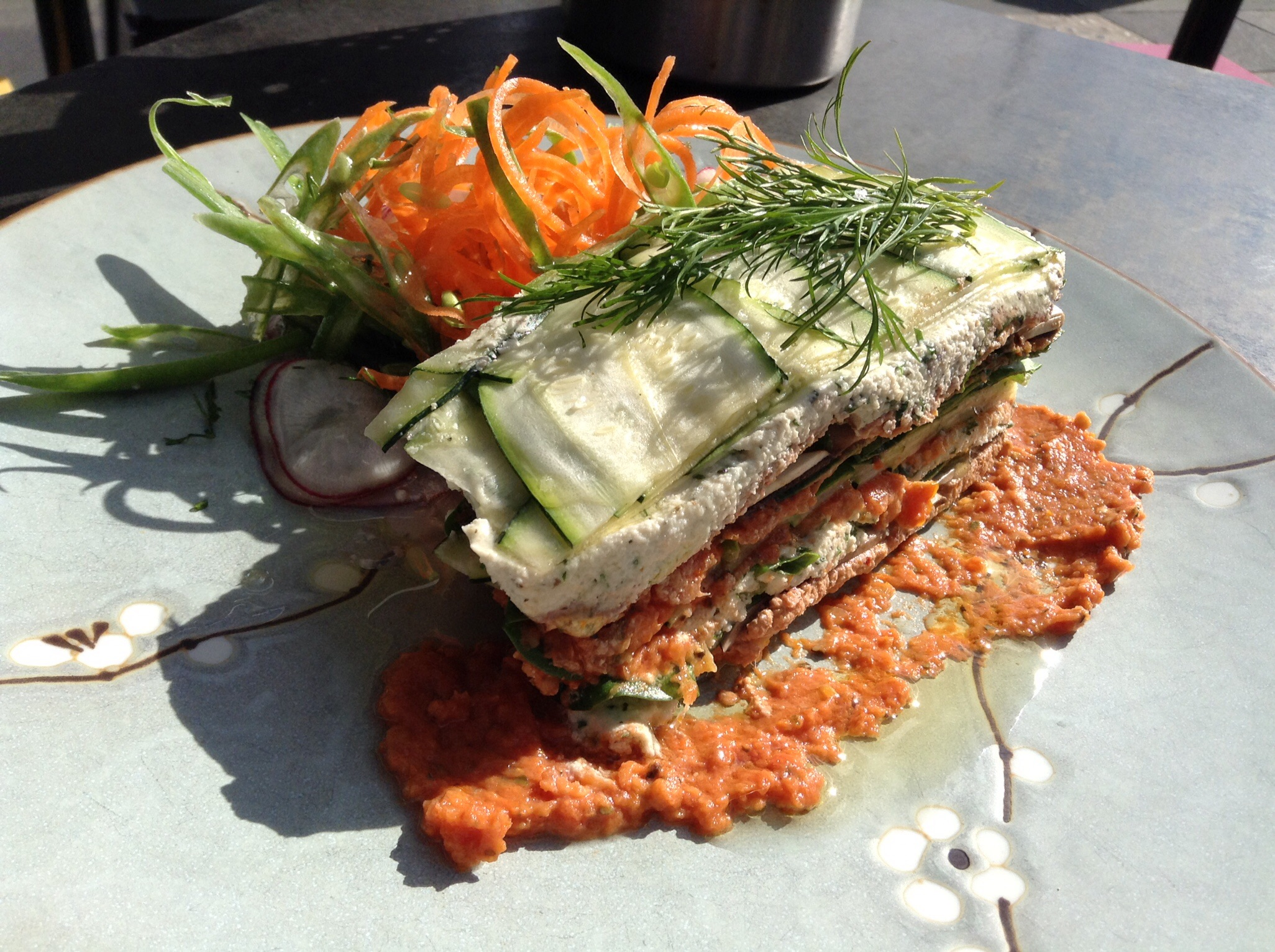 Raw lasagne at Soul Sister