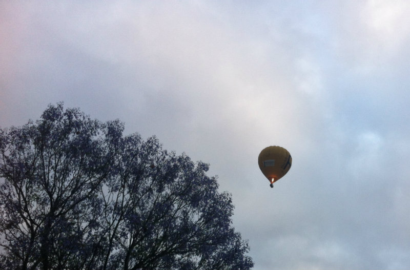 hot air ballooning early morning