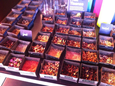 varieties of herbal tea at t2