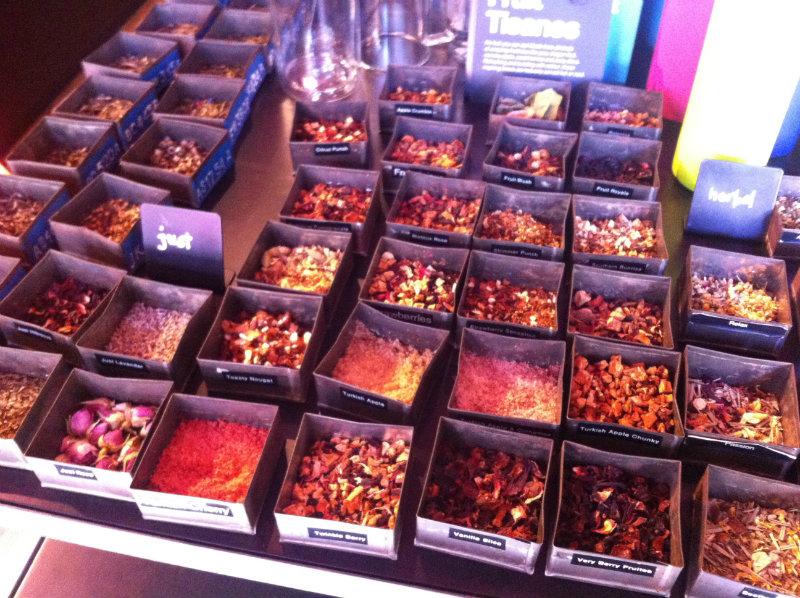 varieties of herbal tea at t2