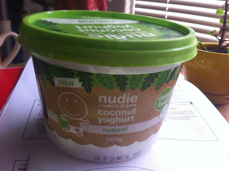 bucket of coconut yoghurt