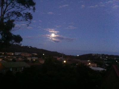 winter solstice, longest night, southern hemisphere, moon rising over the coast