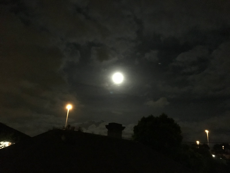 under a perigee moon - Supermoon