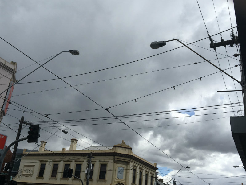 depression or dark clouds in your life - dark clouds over Smith Street on a rainy Saturday