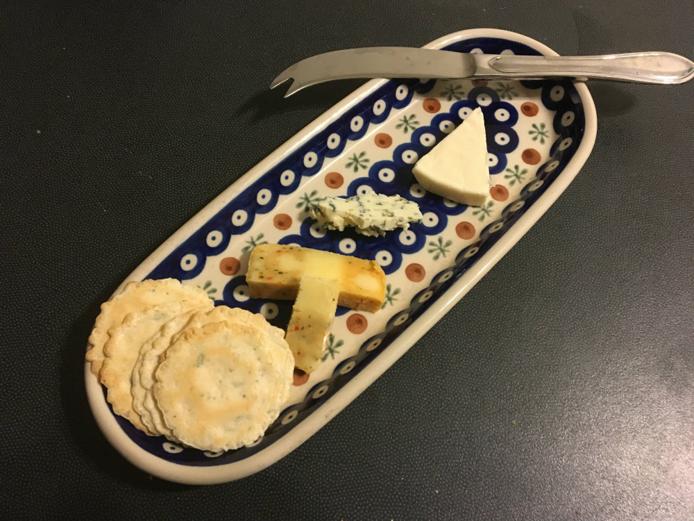 french cheese course, trio cheese platter after dinner - french culture