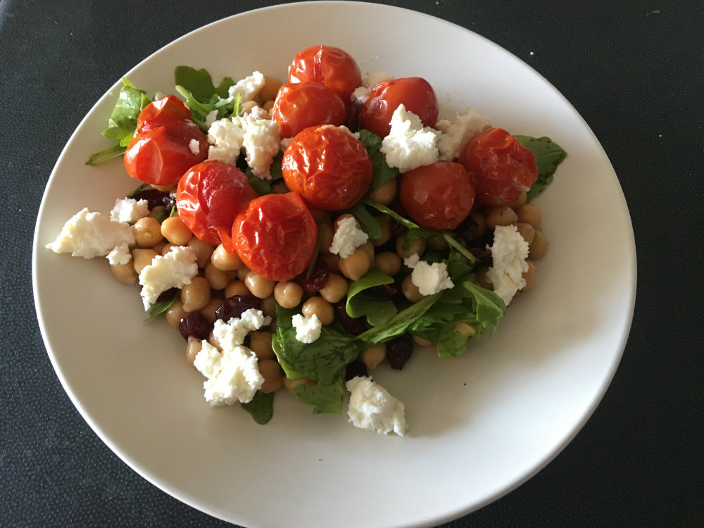chickpea and tomato middle eastern salad, 10 serves of vegetables a day for better health