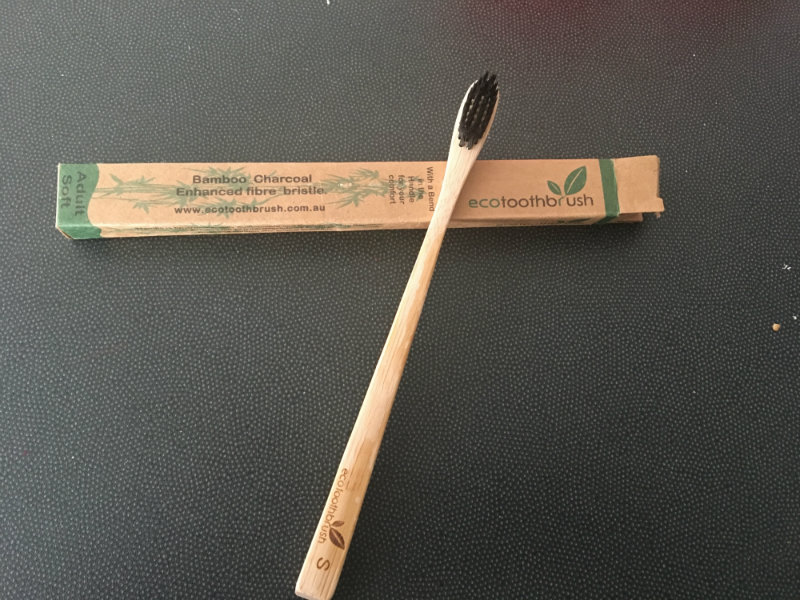 plastic free july - bamboo toothbrush