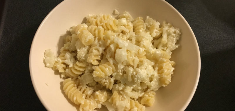 ricotta and cauliflower mac and cheese
