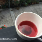 experimental pomegranate and sencha tea