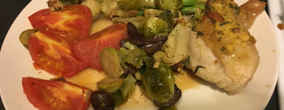 chicken and roasted veges