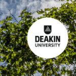 deakin logo and trees