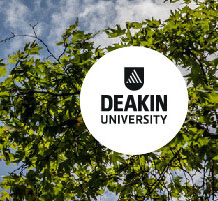 deakin logo and trees