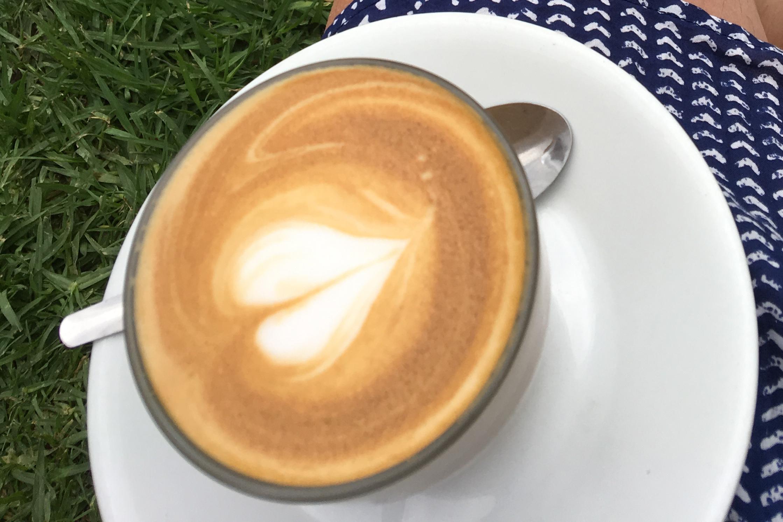 coffee cup at bar beach