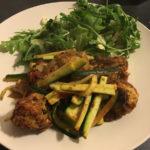 Vegetarian meatballs with 'spaghetti' Napolitana
