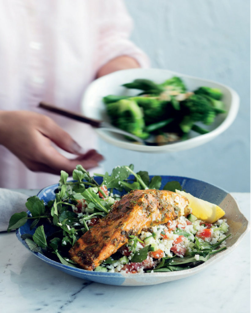 spicy baked salmon recipe from CSIRO low carb diet recipe book