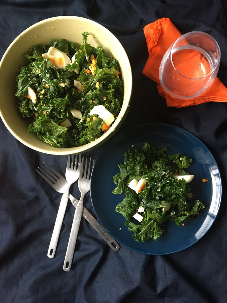 kale ceasar salad for healthy winter meals plans