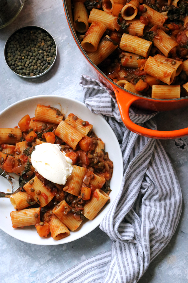 healthy winter meal plans for a delicious lentil bolognese