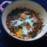 White bean vegetarian shakshuka recipe with feta