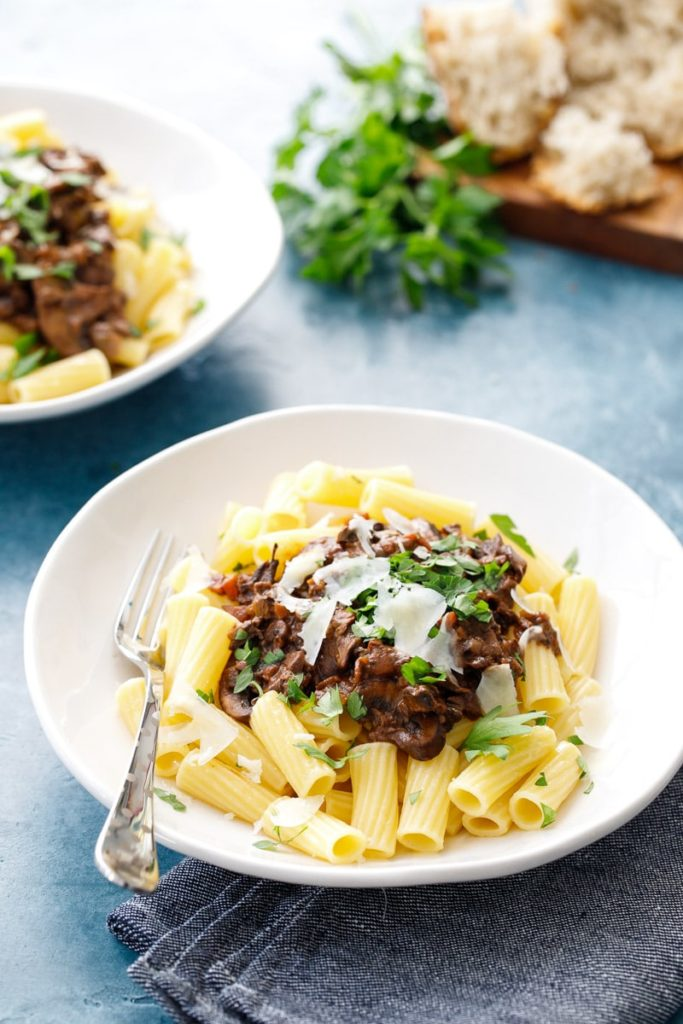 best winter recipes - mushroom ragout on a winter's night