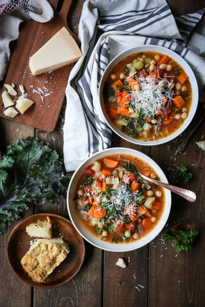 best winter recipes - rustic minestrone soup