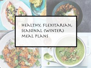 winter vegetarian meal plans - week 27