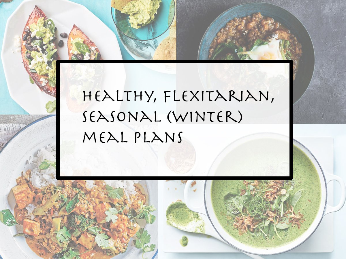winter vegetarian meal plans - week 27