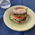 Mushroom and Spiced Tofu Low Carb Burger w Chimichurri