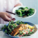 Spicy baked salmon recipe with cauliflower couscous